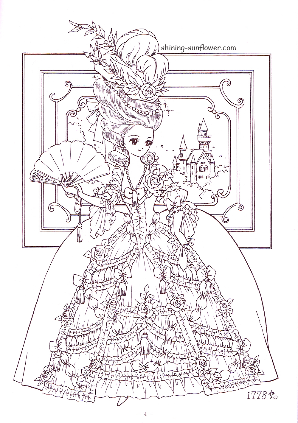 Http shining for Southern belle coloring pages