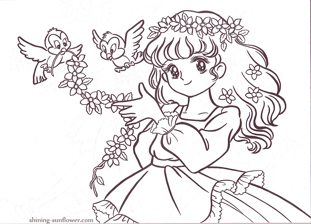 httpshining sunflowercomcolourjuliecolor07 p11jpg anime shojo coloring book pinterest vintage coloring books and coloring books